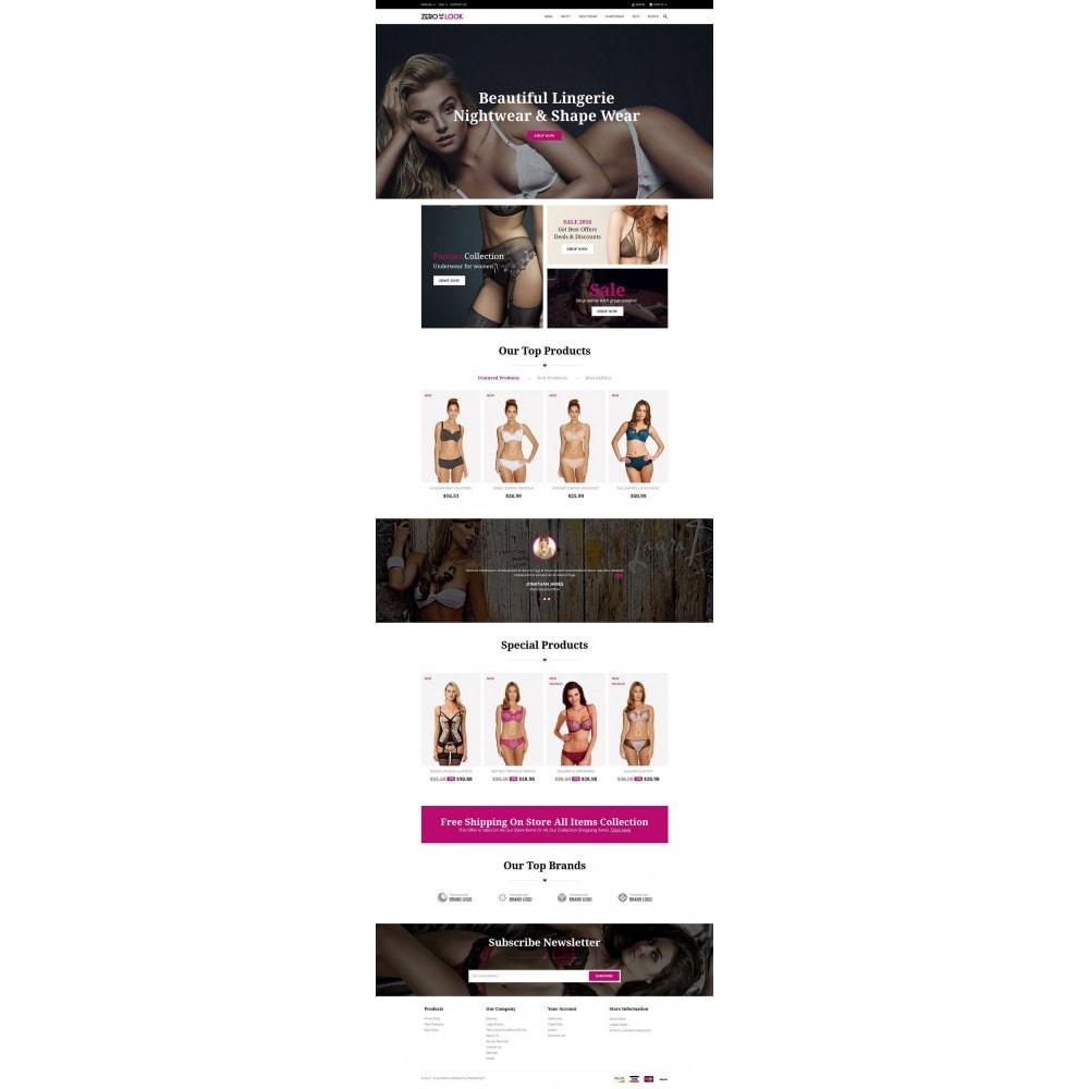 theme - Lingerie & Adulte - Zero Look online Store - 2