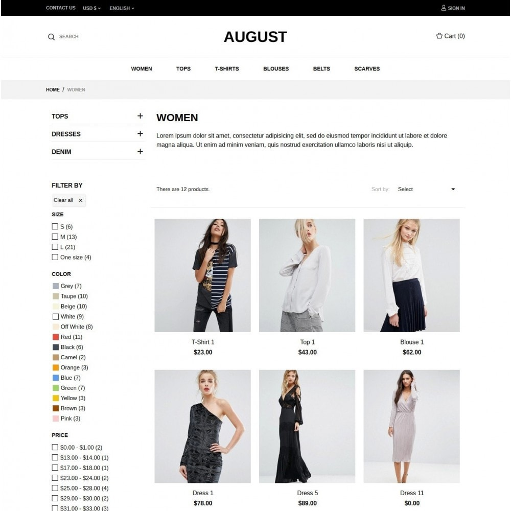 theme - Mode & Schuhe - August Fashion Store - 4