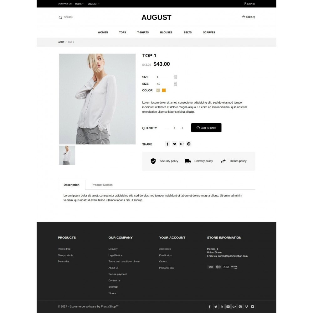 theme - Mode & Chaussures - August Fashion Store - 6