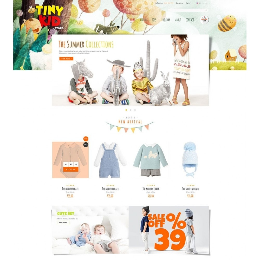 theme - Kids & Toys - Tiny Kid - 2