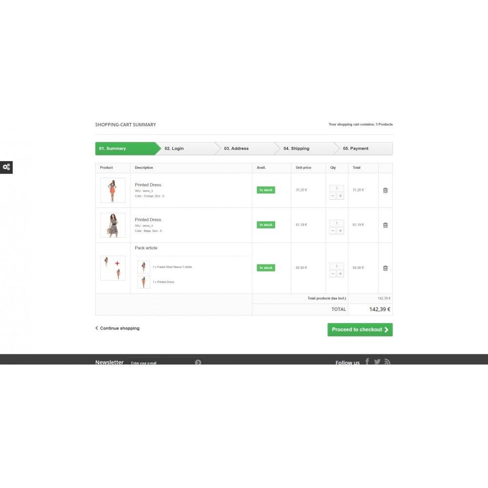 module - Inscription & Processus de commande - Détail du contenu d'un pack dans la panier - 1