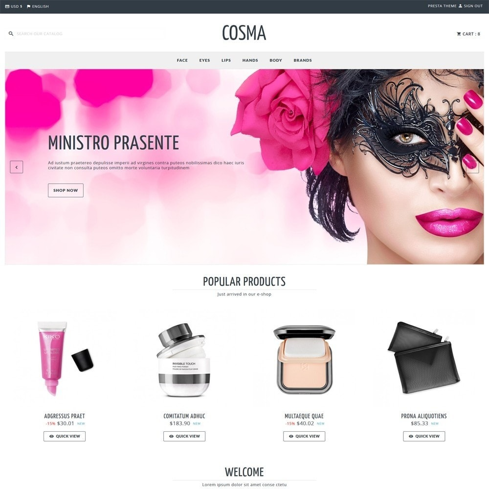 theme - Health & Beauty - Cosma - 1