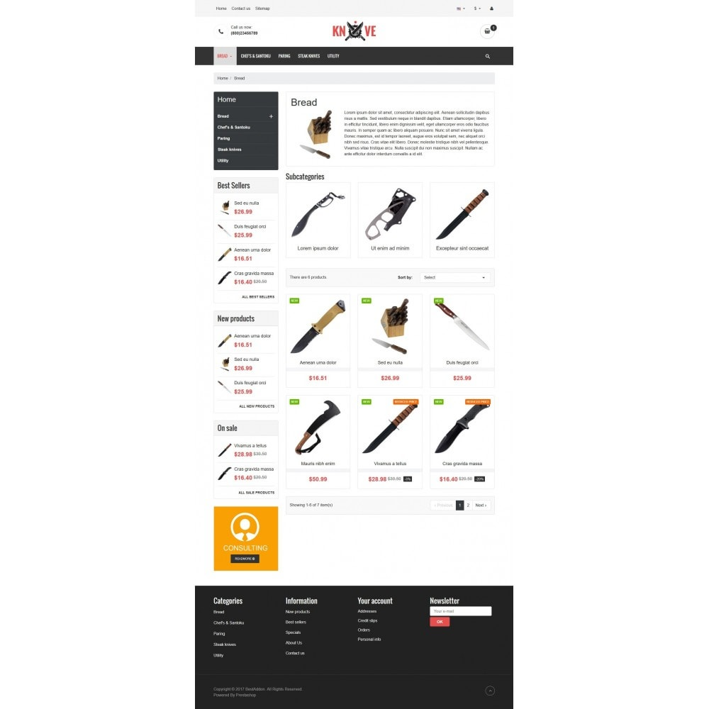 theme - Food & Restaurant - VP_Knives - Page Builder - 3
