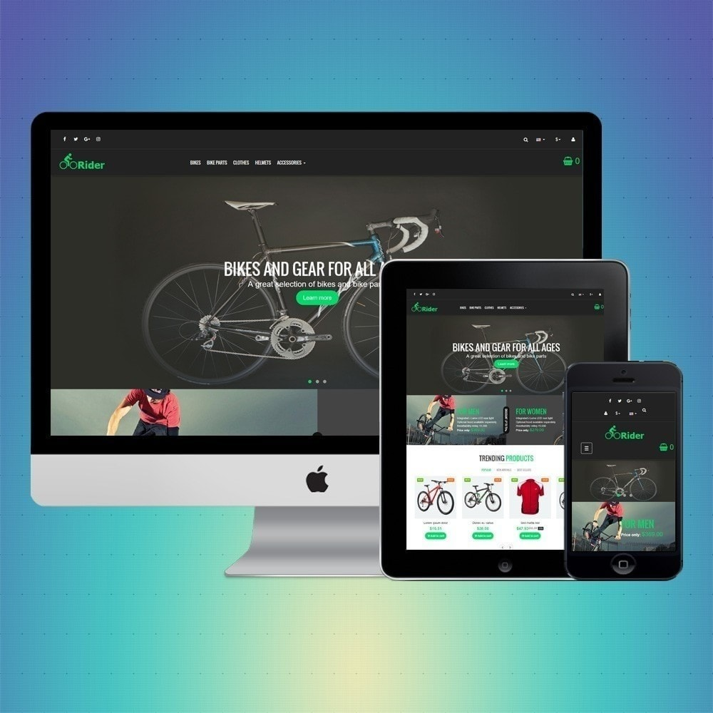 theme - Sports, Activities & Travel - VP_Rider Store - 1