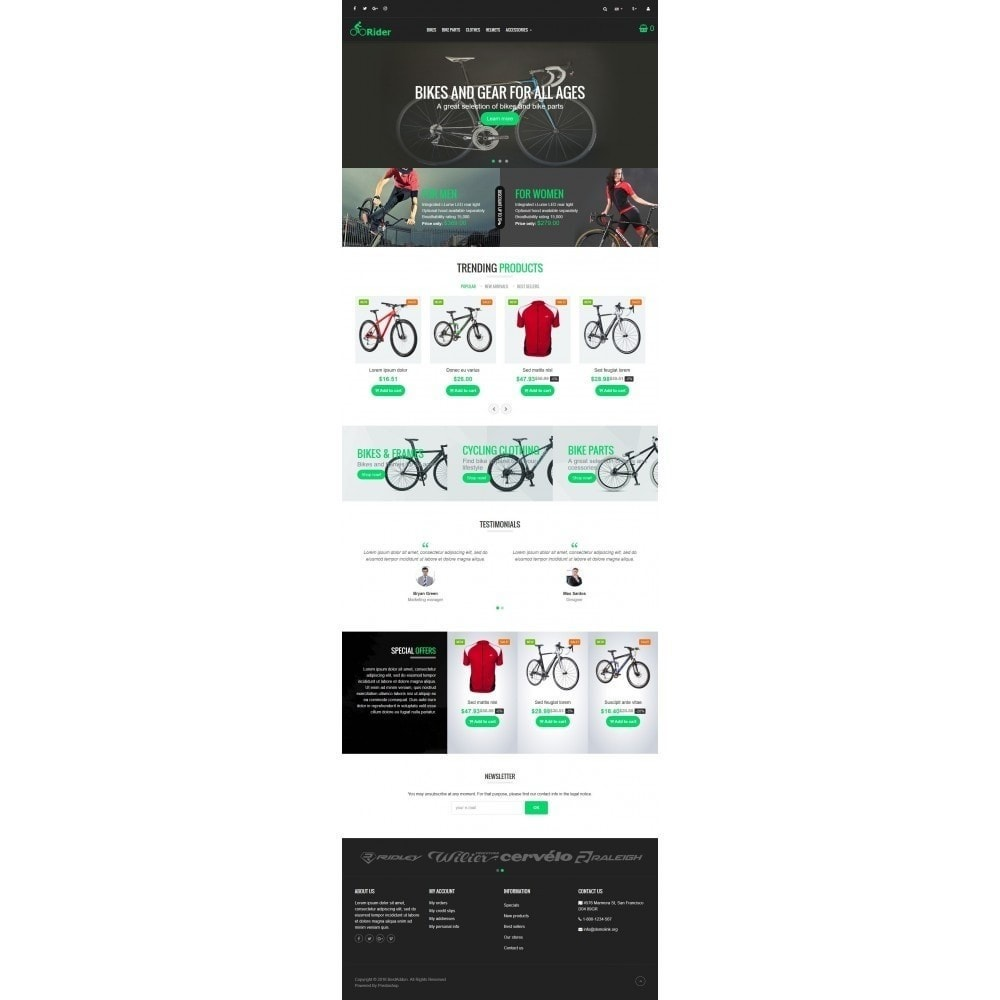 theme - Sports, Activities & Travel - VP_Rider Store - 2