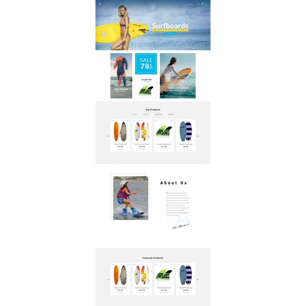 theme - Deportes, Actividades y Viajes - Surf Summer Online Store - 2