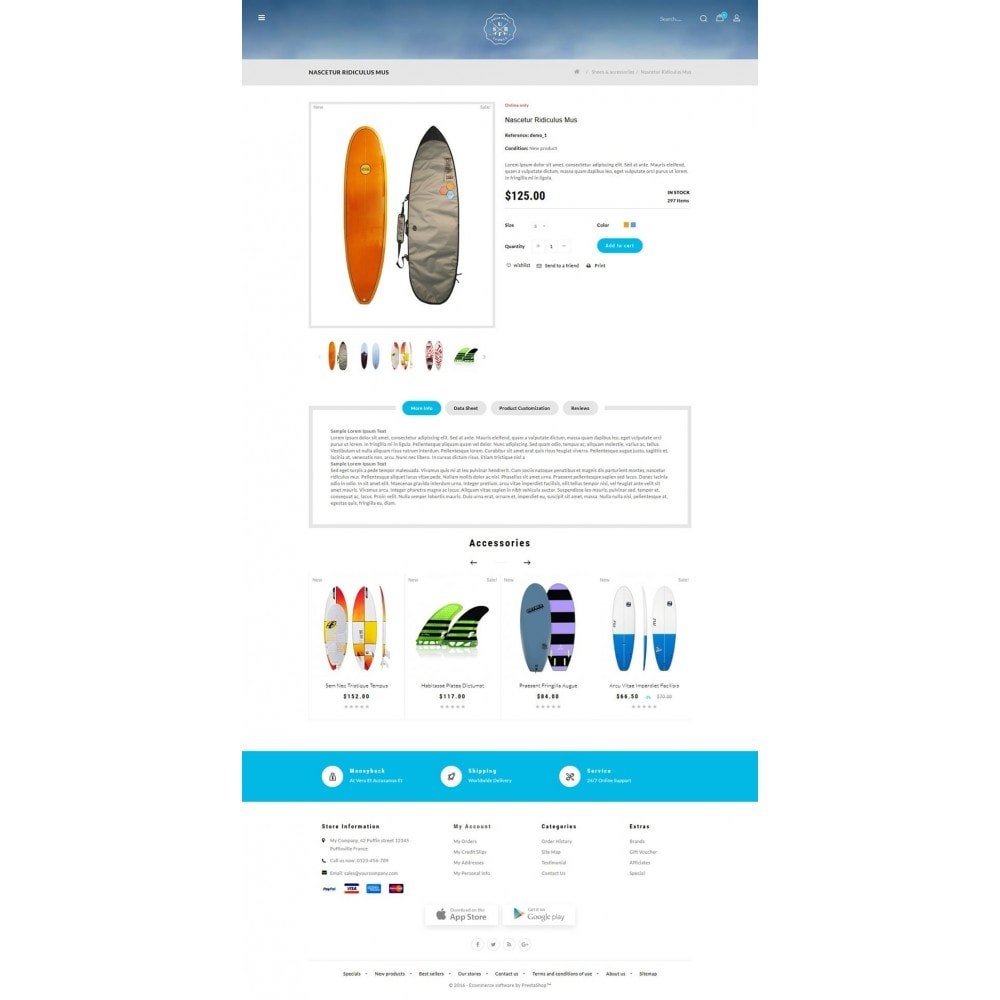 theme - Sports, Activities & Travel - Surf Summer Online Store - 5