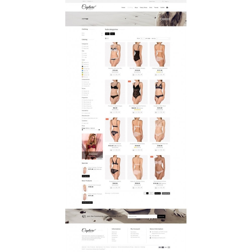 theme - Lingerie & Adulti - Capture Lingerie Online Store - 3
