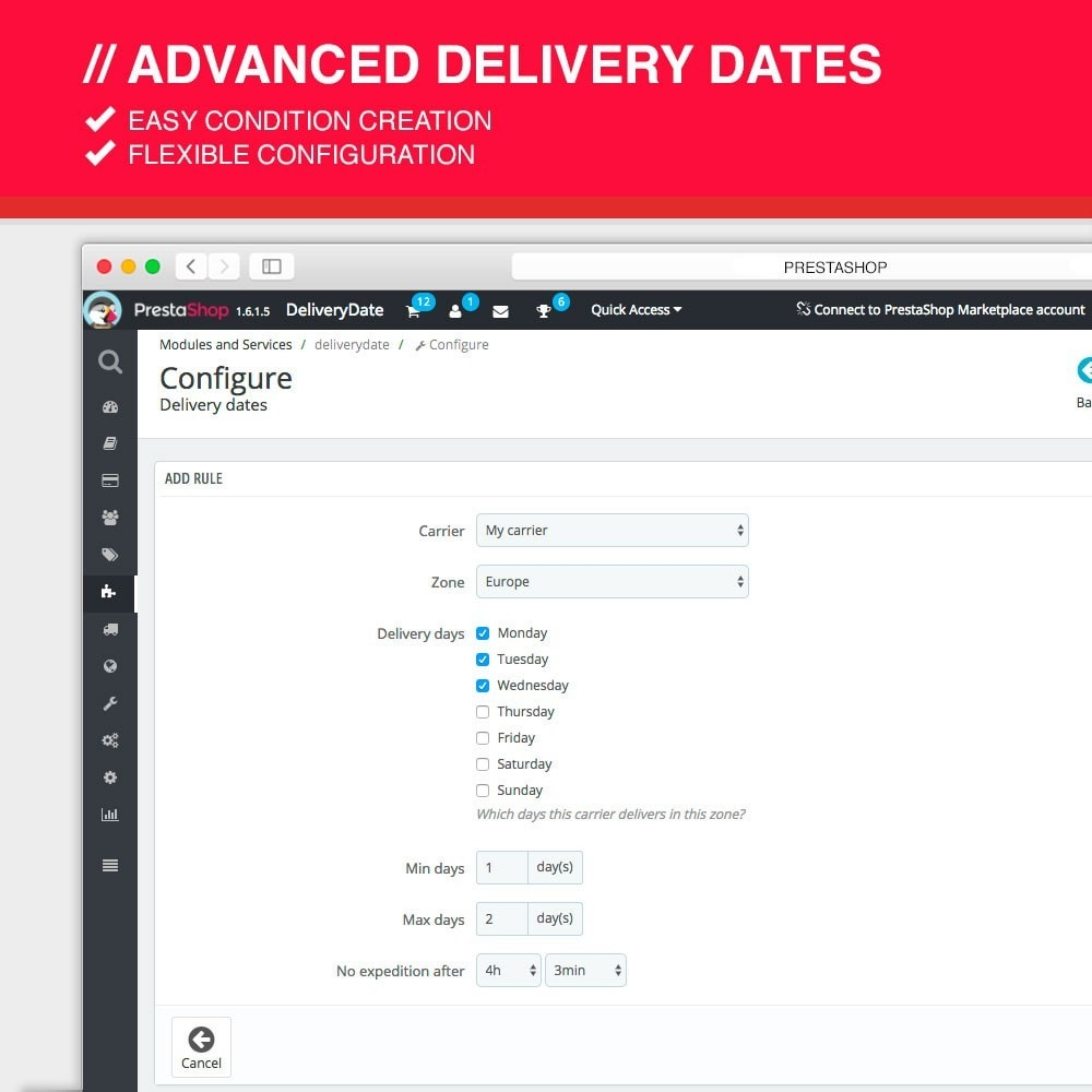 module - Leverdatum - Advanced delivery dates - 4