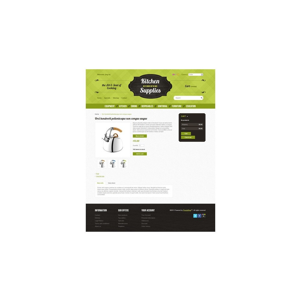theme - Template PrestaShop - Kitchen and Supplies shop - 2