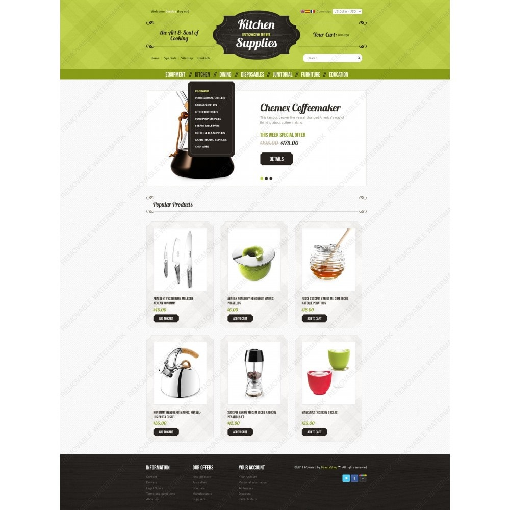 theme - Template PrestaShop - Kitchen and Supplies shop - 3