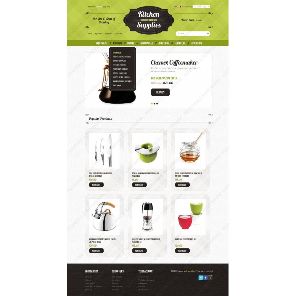 theme - Template PrestaShop - Kitchen and Supplies shop - 6