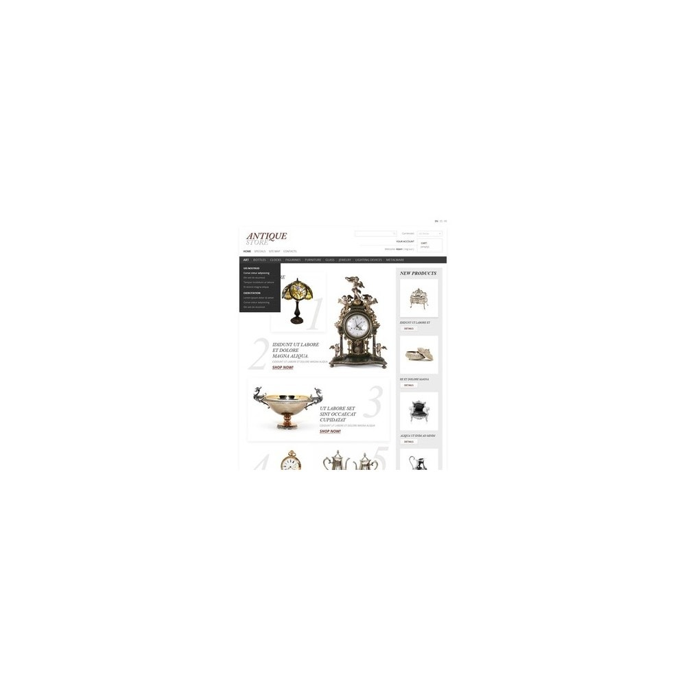 theme - Thèmes PrestaShop - Antique Items World - 5