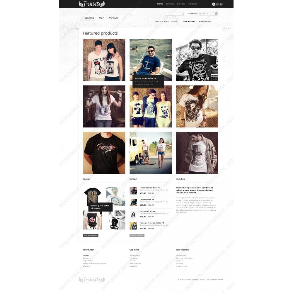 theme - Шаблоны PrestaShop - Grungy T-Shirts Online - 6