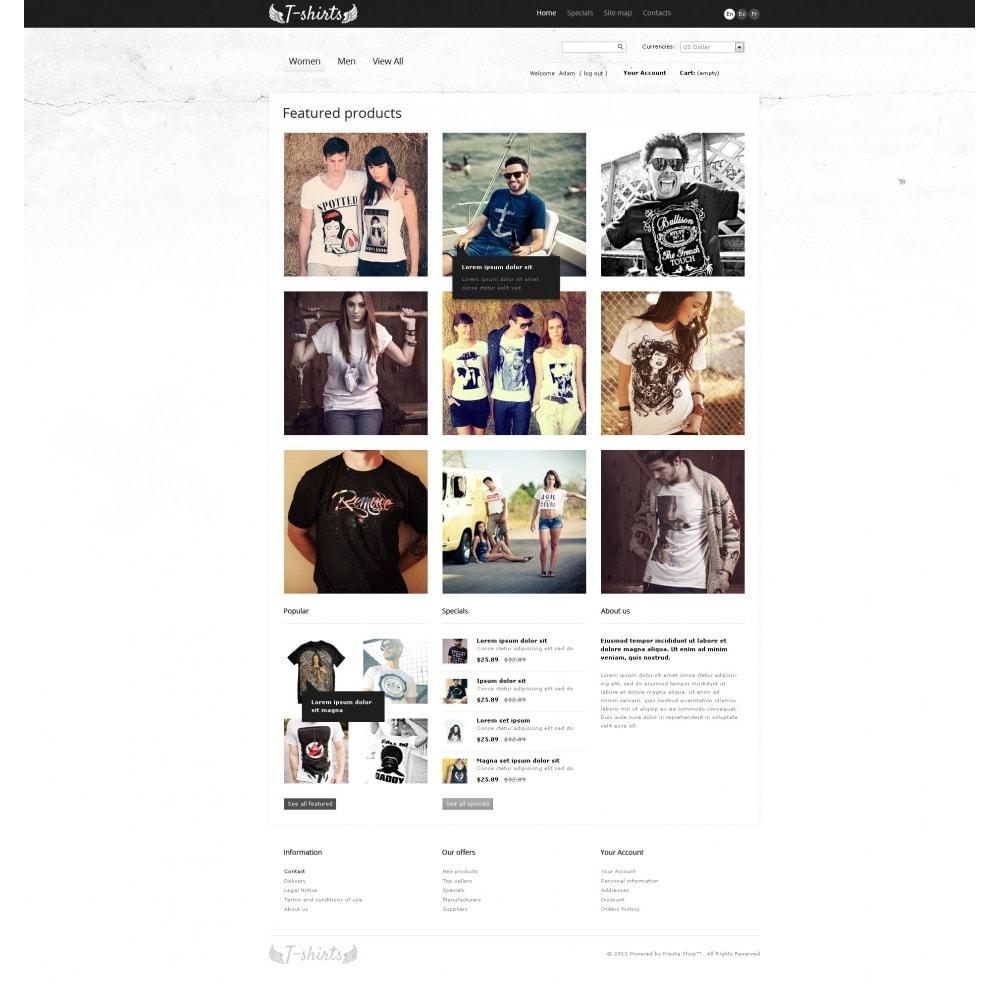 theme - Шаблоны PrestaShop - Grungy T-Shirts Online - 7