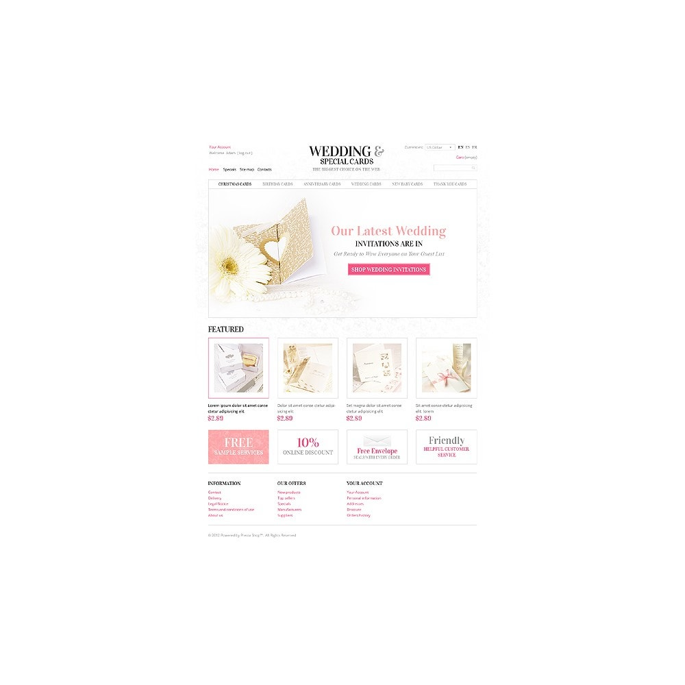 theme - Template PrestaShop - Wedding Invitations - 1