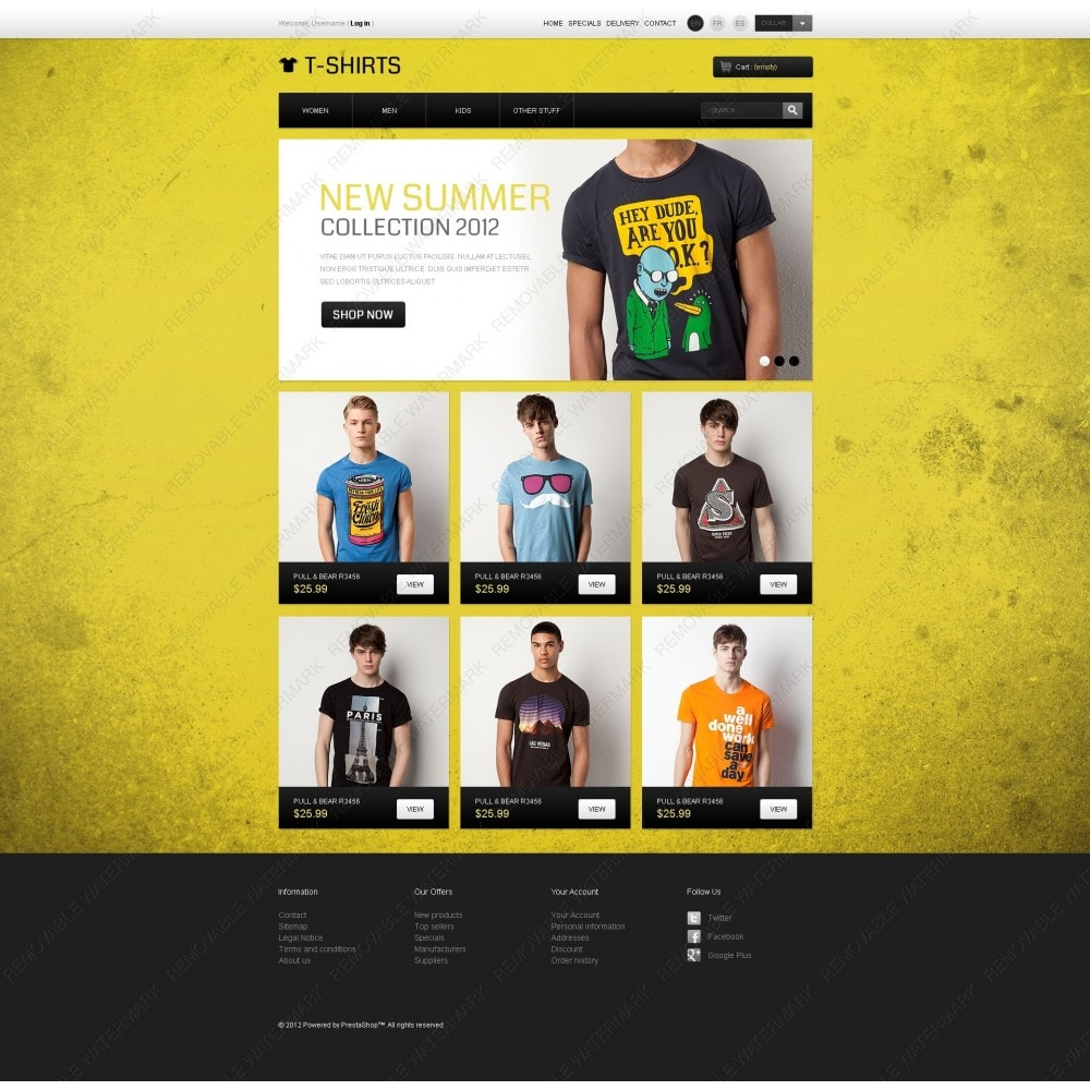 theme - PrestaShop Templates - Funny T-Shirts - 3
