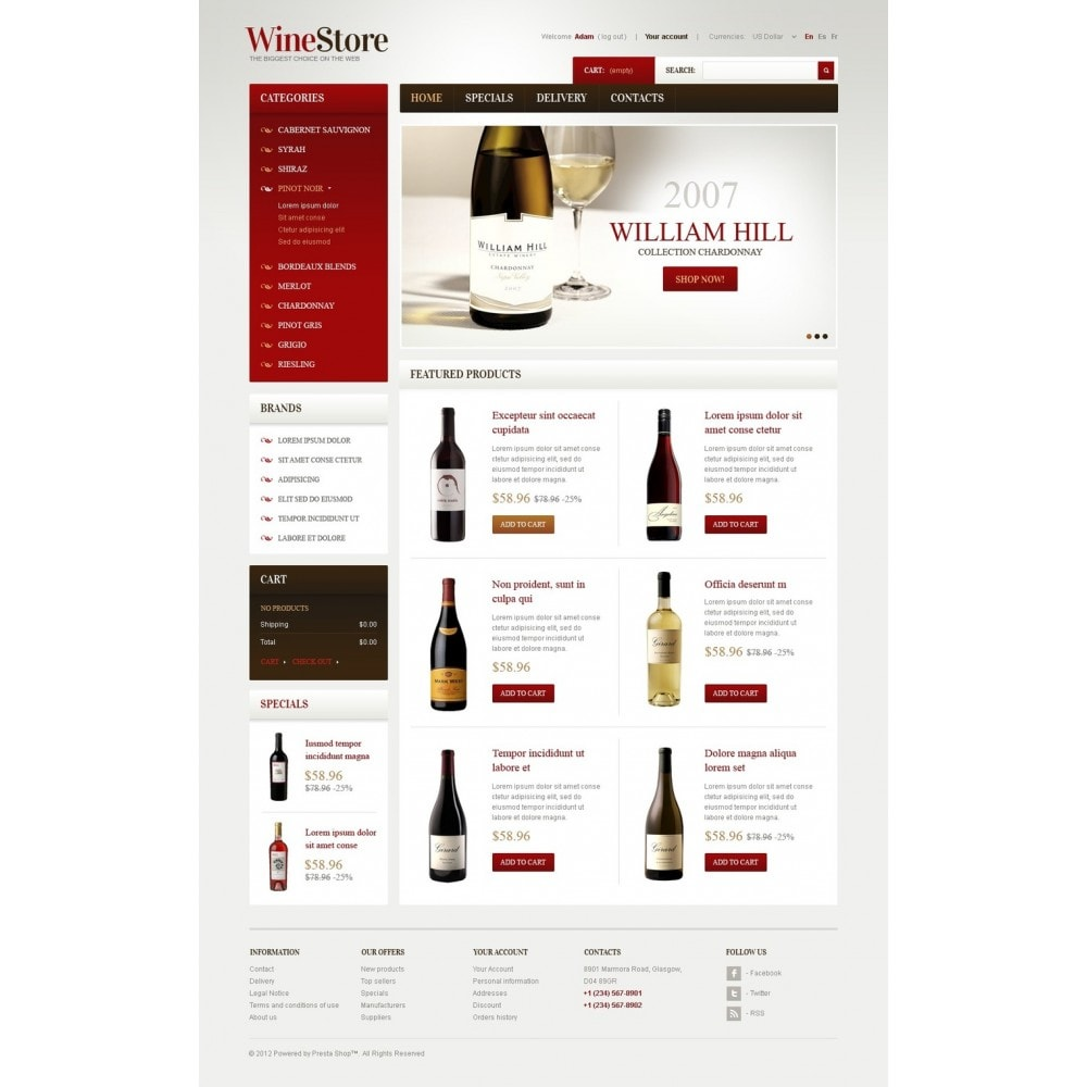theme - Шаблоны PrestaShop - Wines for Gourmets - 4