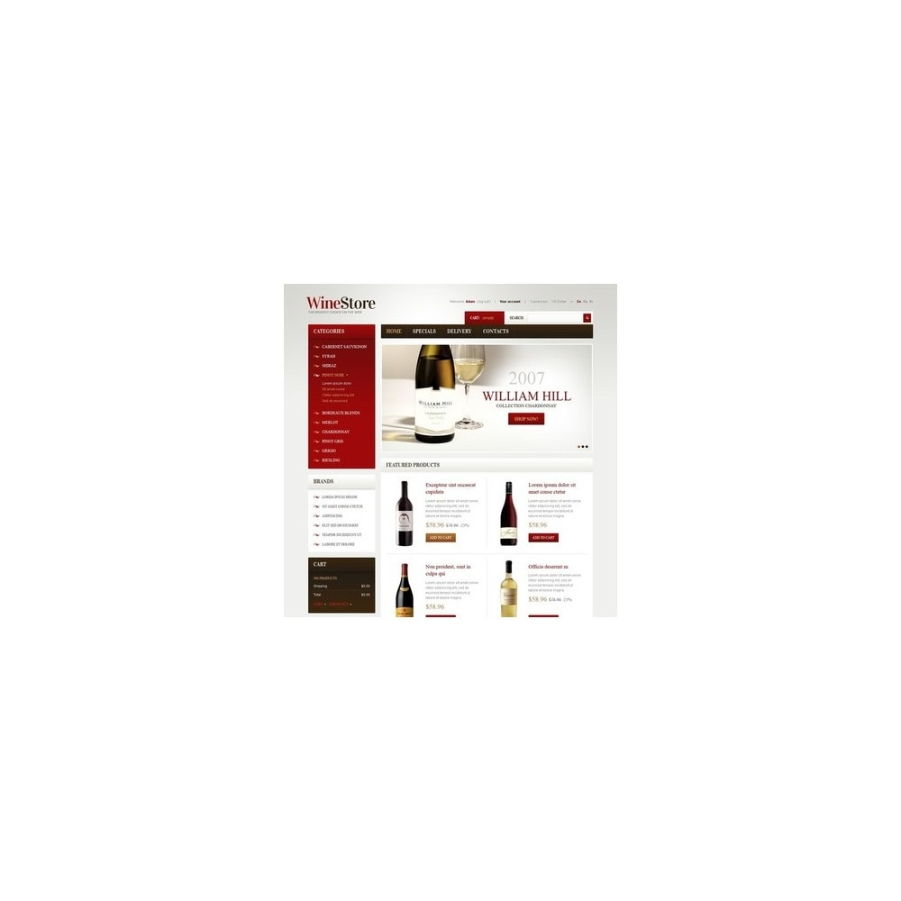 theme - PrestaShop Szablony - Wines for Gourmets - 5