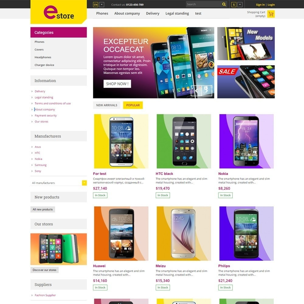 theme - Elettronica & High Tech - Estore Gadget Store - 2