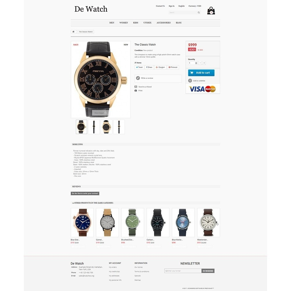 theme - Jewelry & Accessories - De Watche - Watches and Accessories Store. - 4