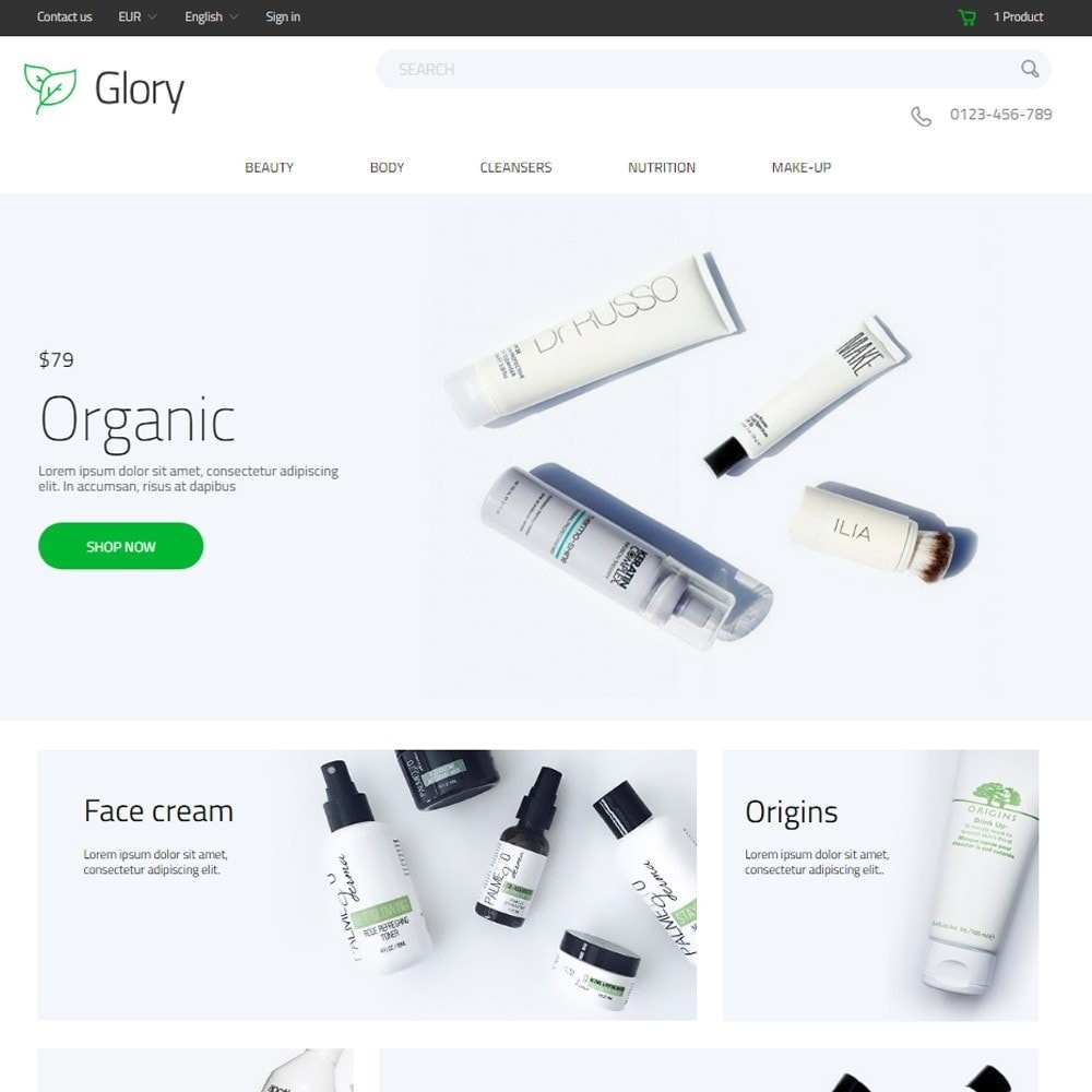 theme - Health & Beauty - Glory Cosmetics - 2