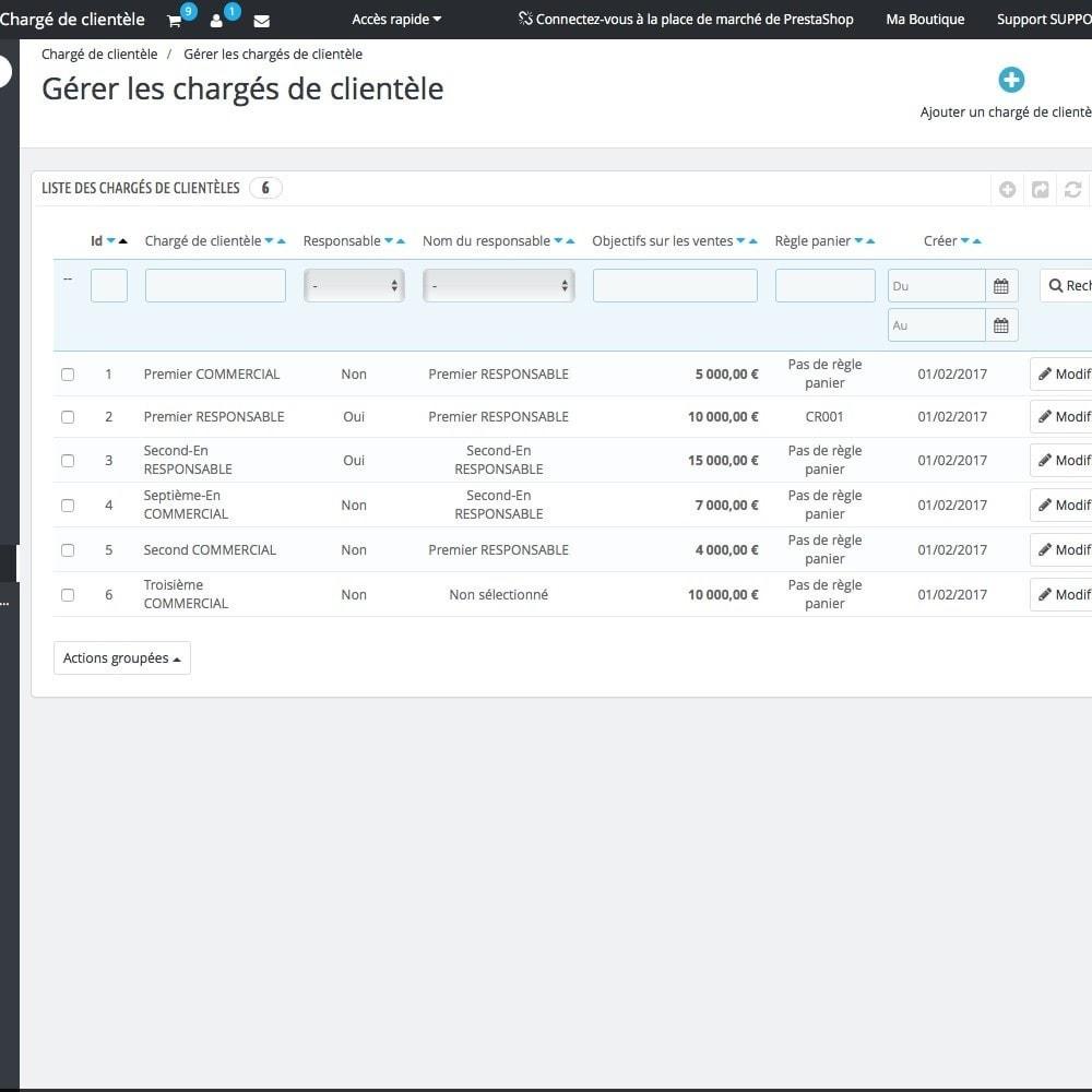 module - Outils d'administration - Chargé de clientèle - 4