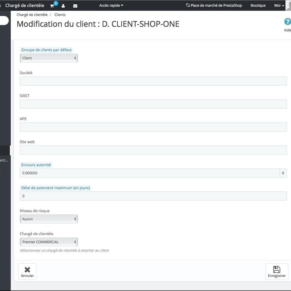 module - Outils d'administration - Chargé de clientèle - 15