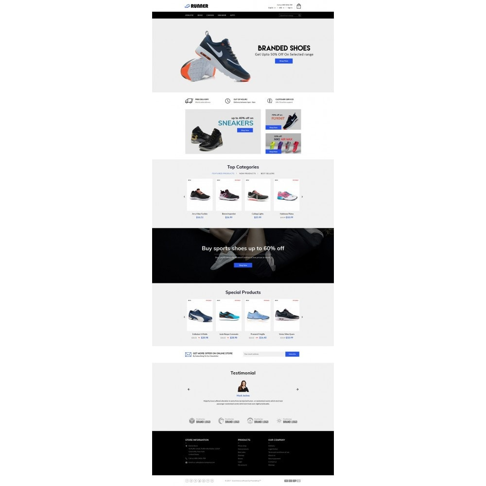 theme - Мода и обувь - Runner Shoes Store - 2