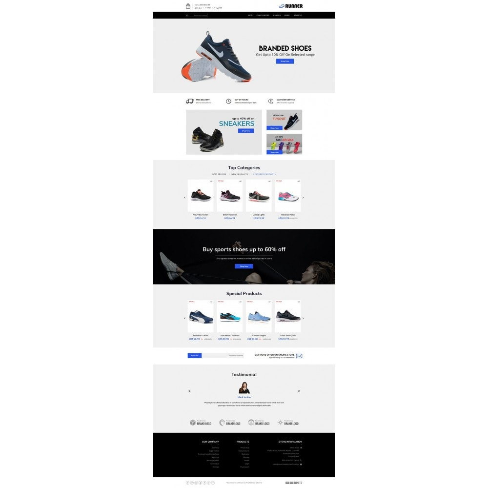 theme - Мода и обувь - Runner Shoes Store - 6