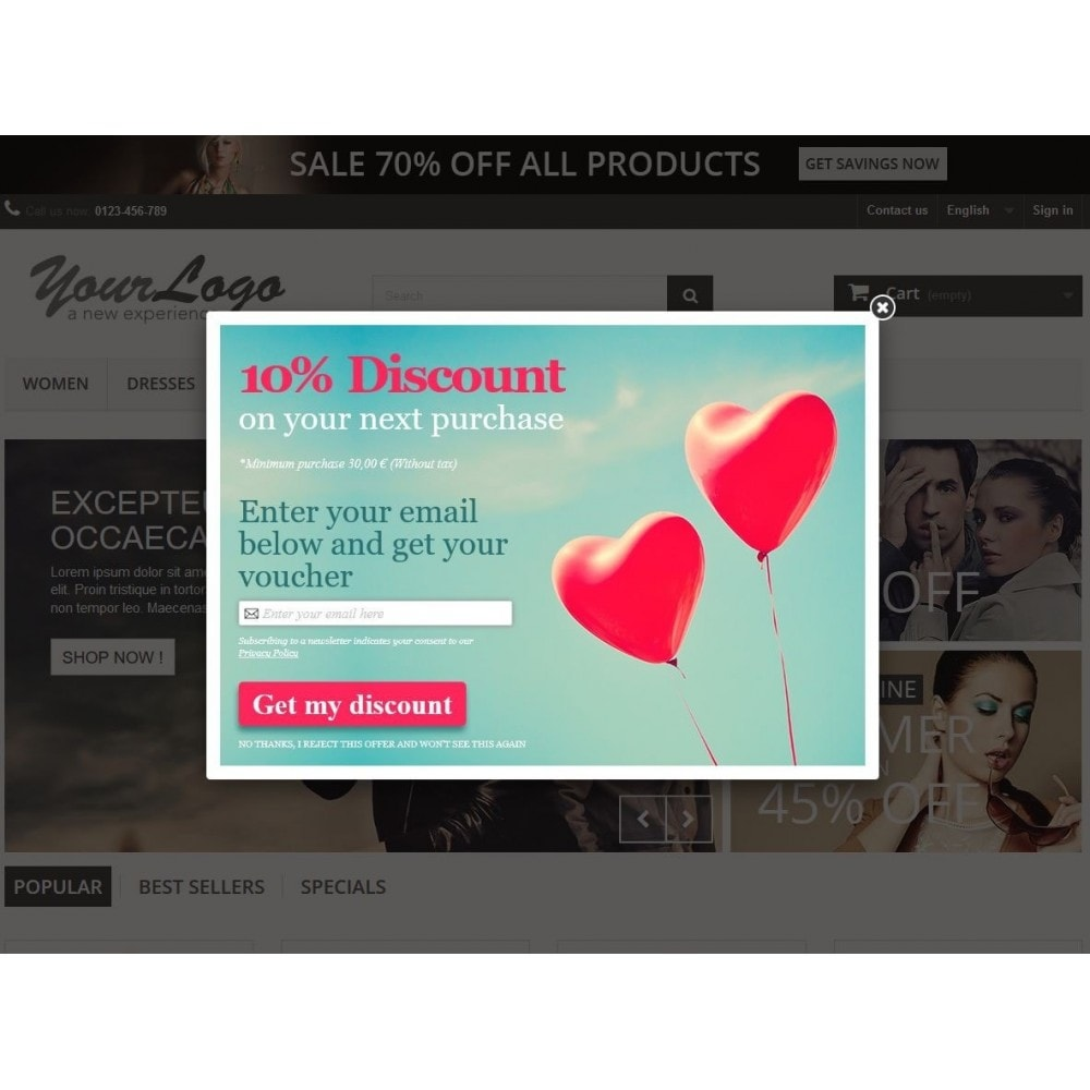 module - Pop-up - Email Leads Collector Popup with Discount Coupon - 3