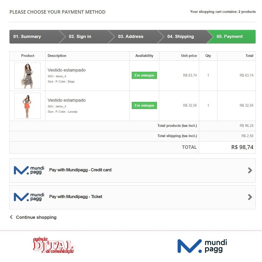module - Payment by Card or Wallet - Mundipagg - 3