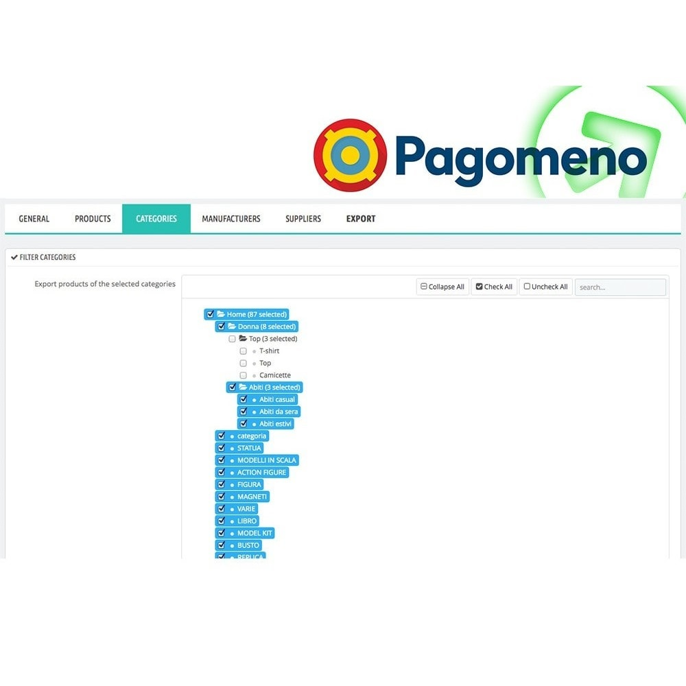 module - Comparateurs de prix - Export to Pagomeno - 3