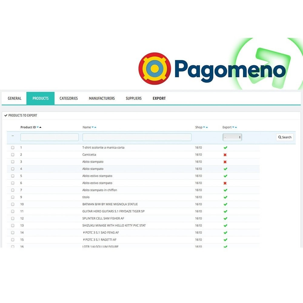 module - Comparateurs de prix - Export to Pagomeno - 4
