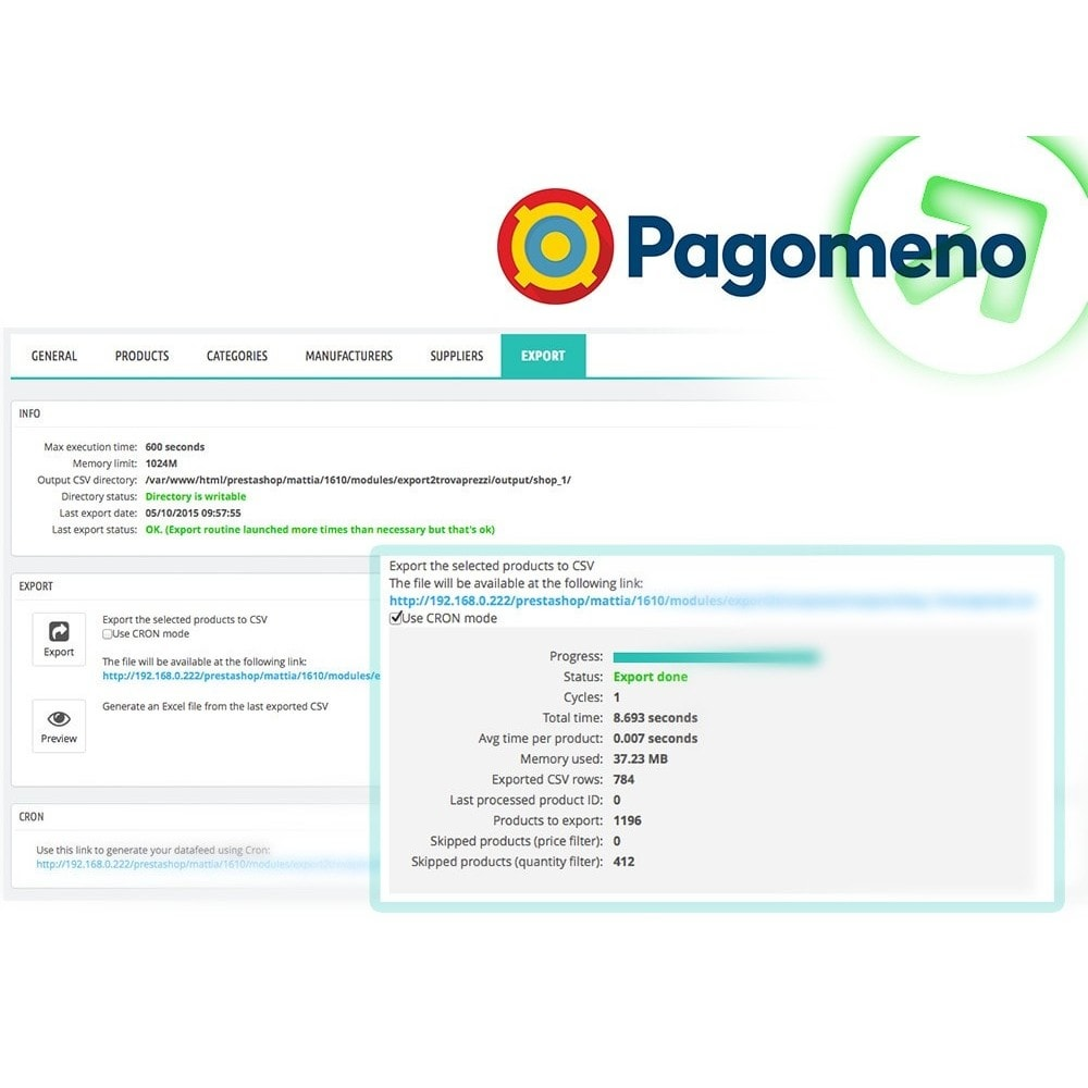 module - Comparateurs de prix - Export to Pagomeno - 6