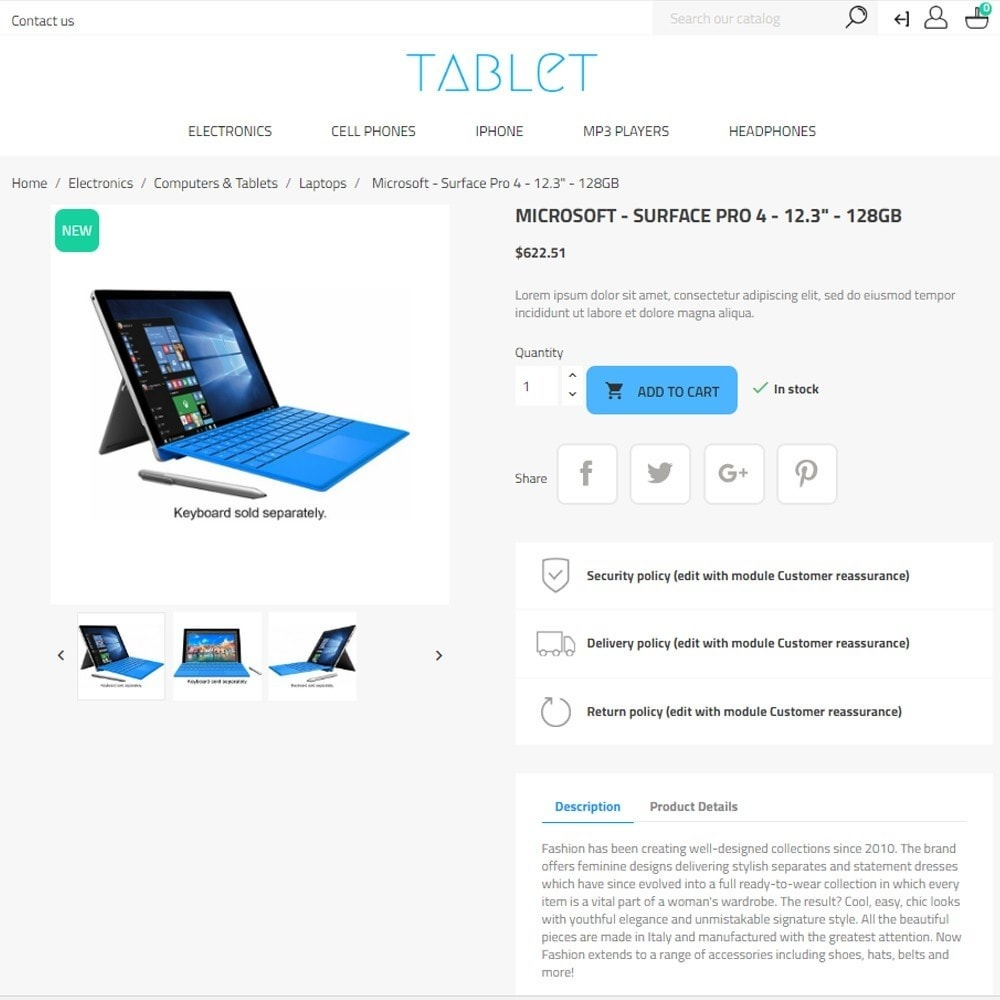 theme - Elektronica & High Tech - Tablet - Electronics High-tech Shop - 7