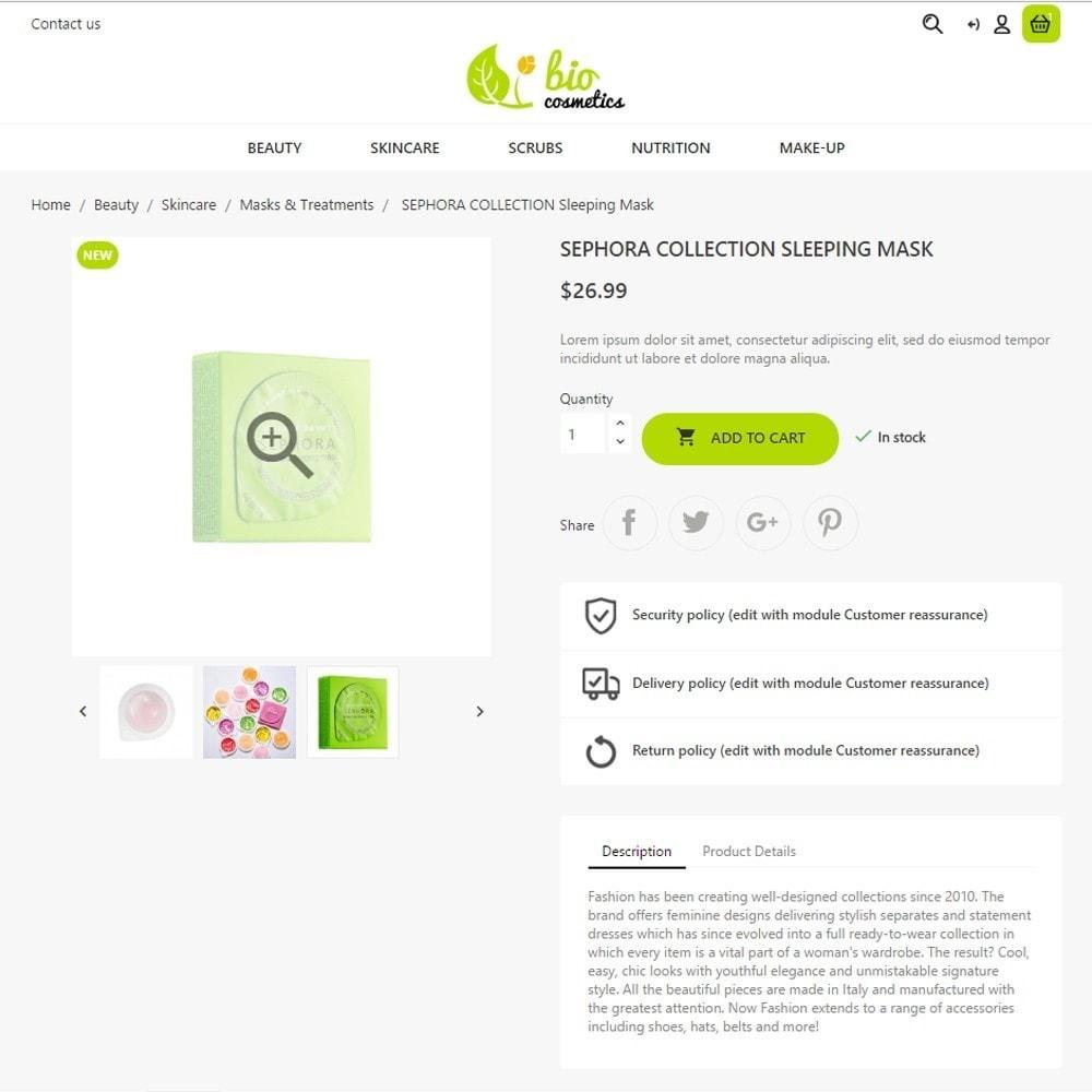 theme - Santé & Beauté - BioCosmetics - 6