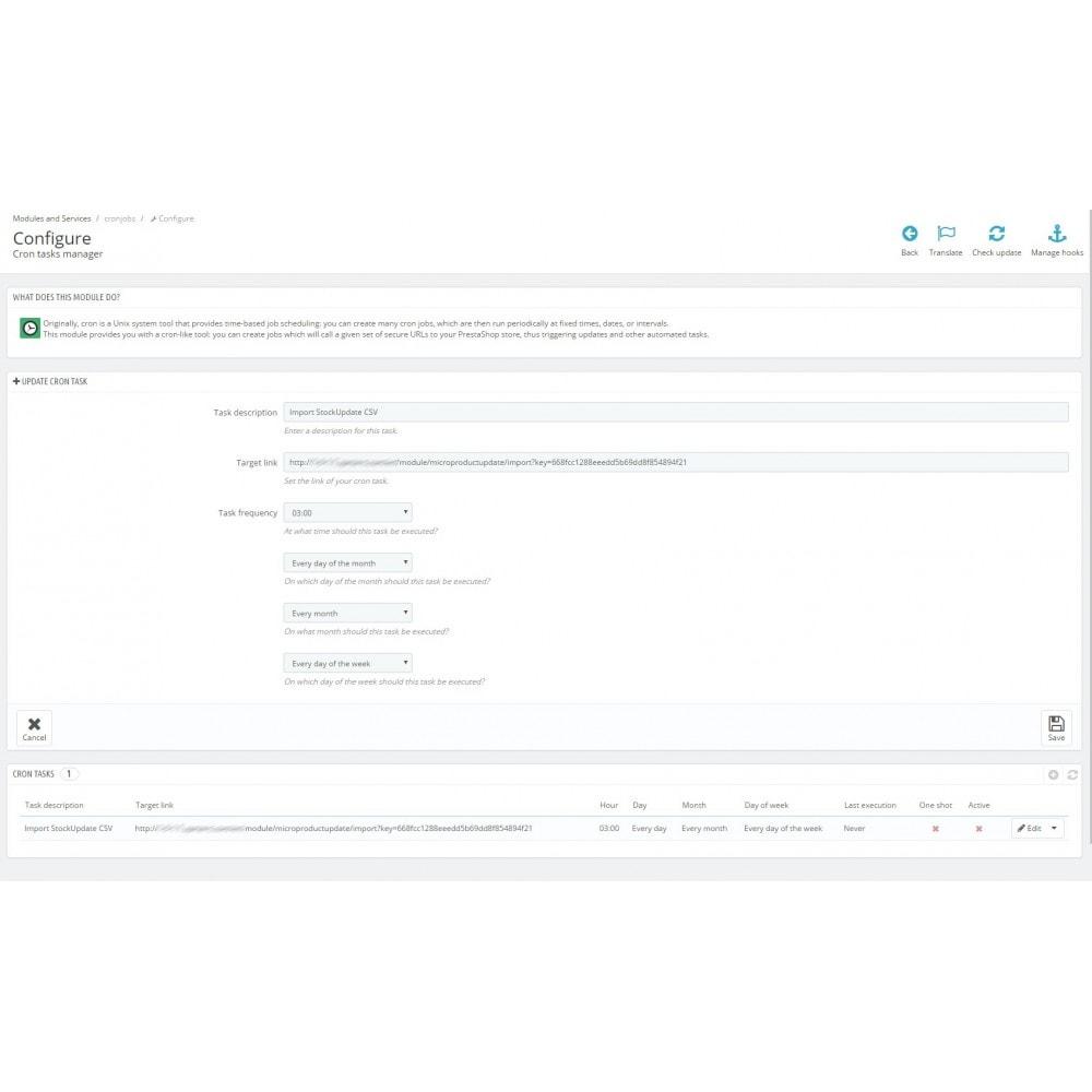 module - Importeren en Exporteren van data - MicroProductUpdate - 1
