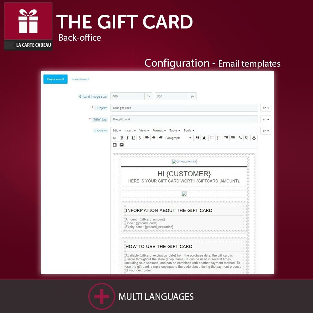 The Gift Card Prestashop Addons