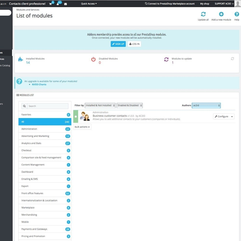 module - B2B - Business customer contacts - 2