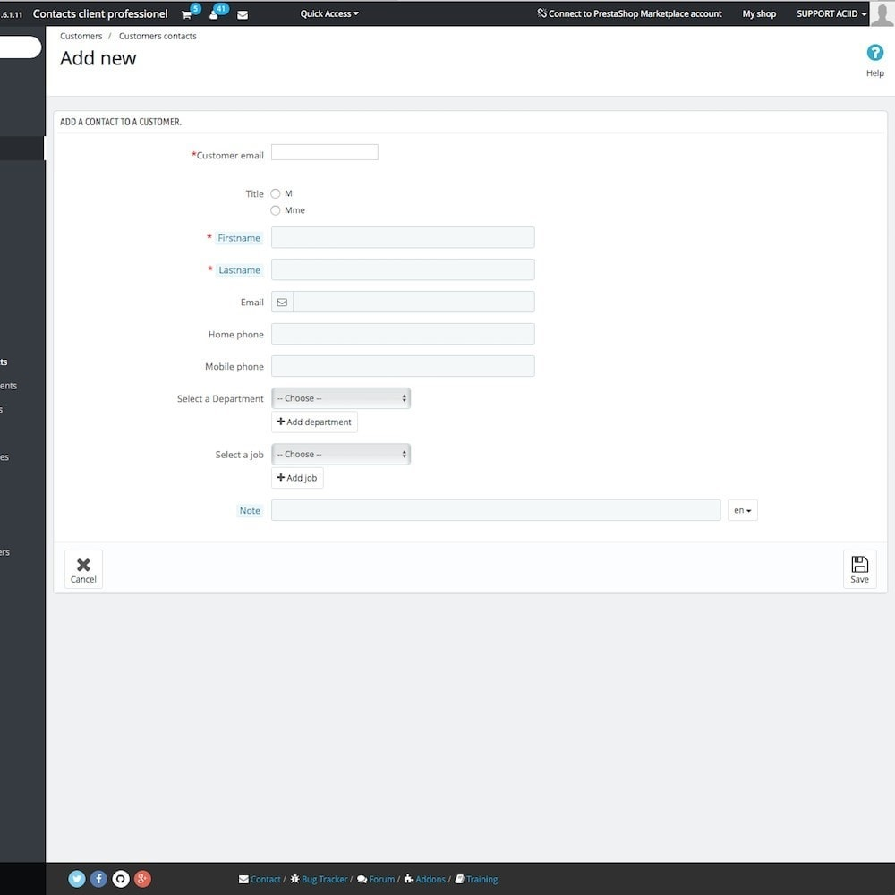 module - B2B - Business customer contacts - 5