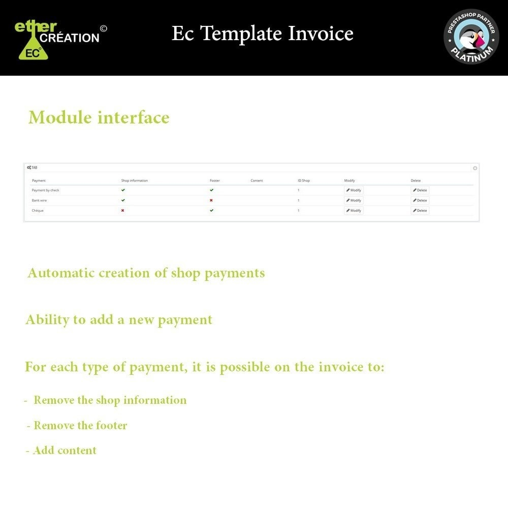module - Buchhaltung & Rechnung - Manage invoices based on sales sources - 1