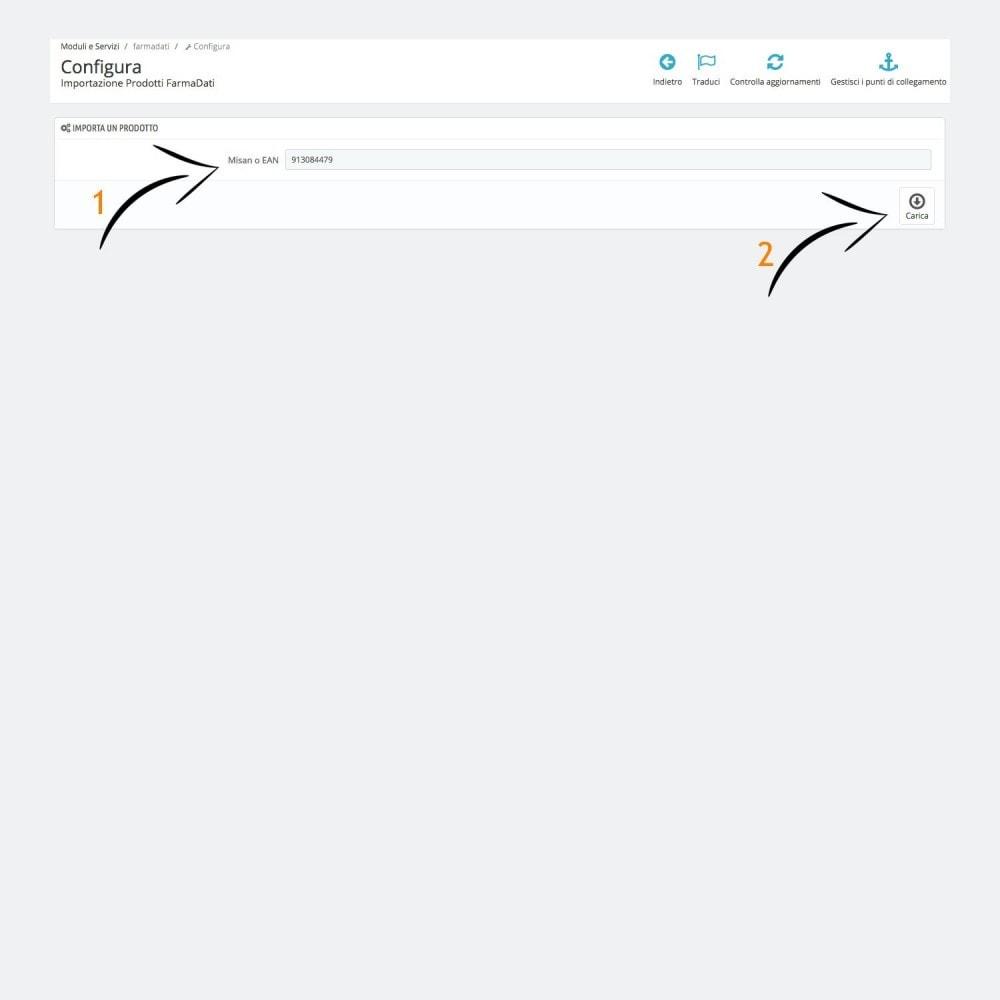 module - Data Import & Export - Importazione Prodotti FarmaDati - 2