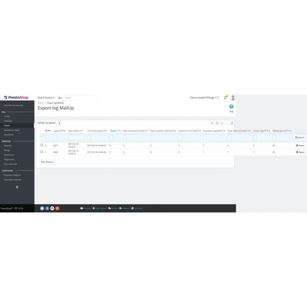 module - Newsletter & SMS - MailUp - Export e sincronizzazione clienti - 3