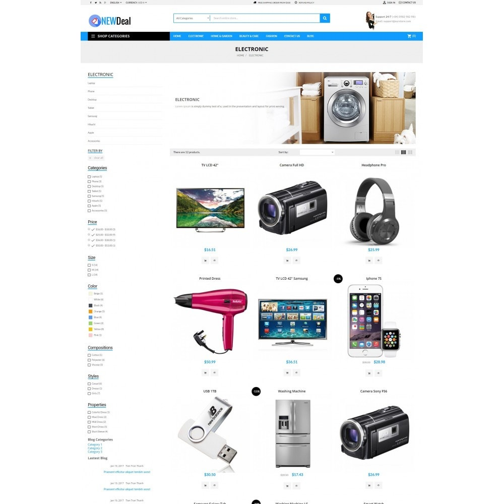 theme - Elektronika & High Tech - New Deals Super Market - 5