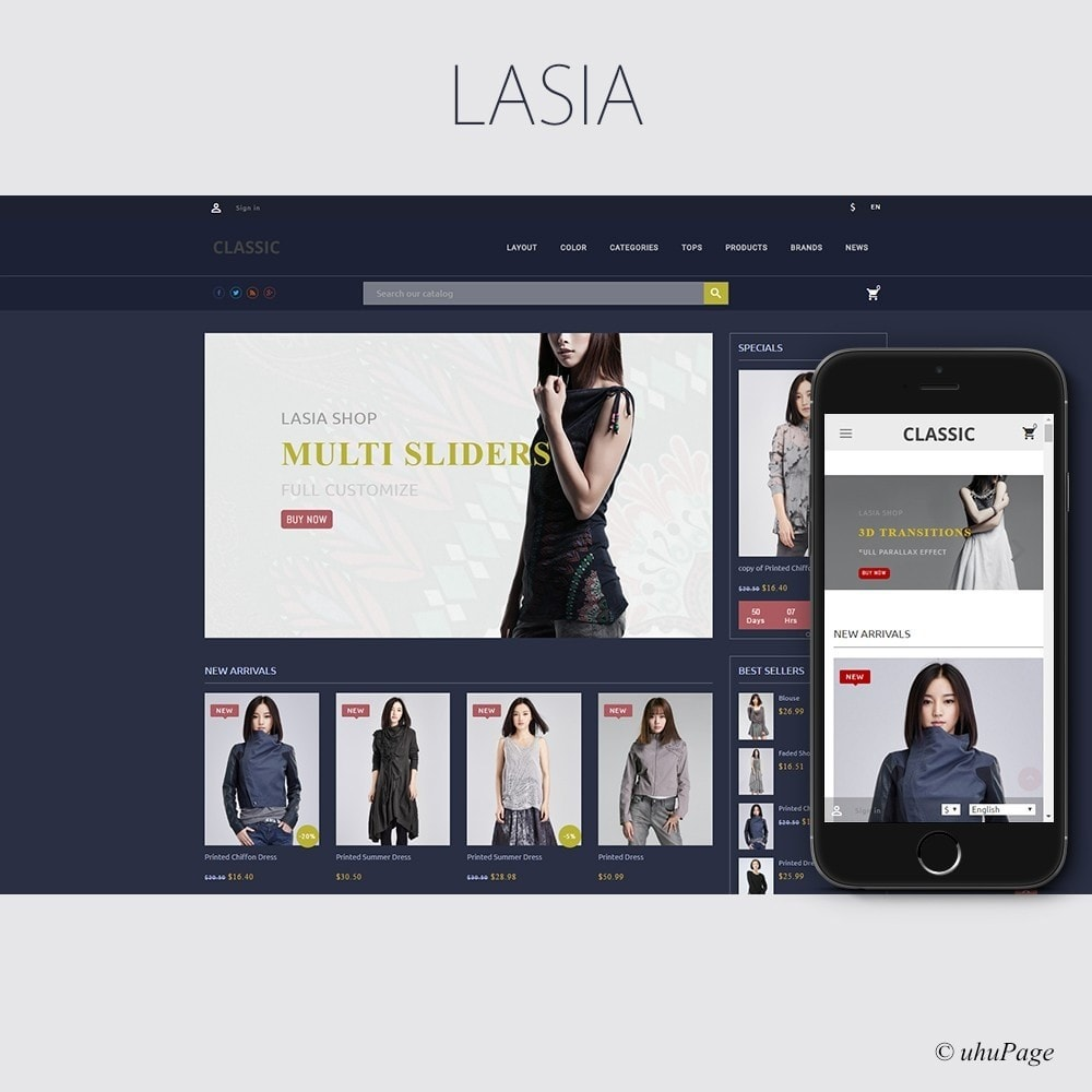 theme - Мода и обувь - Lasia Fashion Store - 1
