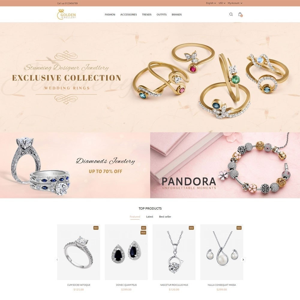 theme - Jewelry & Accessories - Golden Jewellery Store - 2
