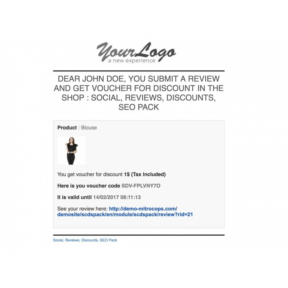 module - Social Rewards & Coupons - Social, Reviews, Discounts, SEO Pack - 59