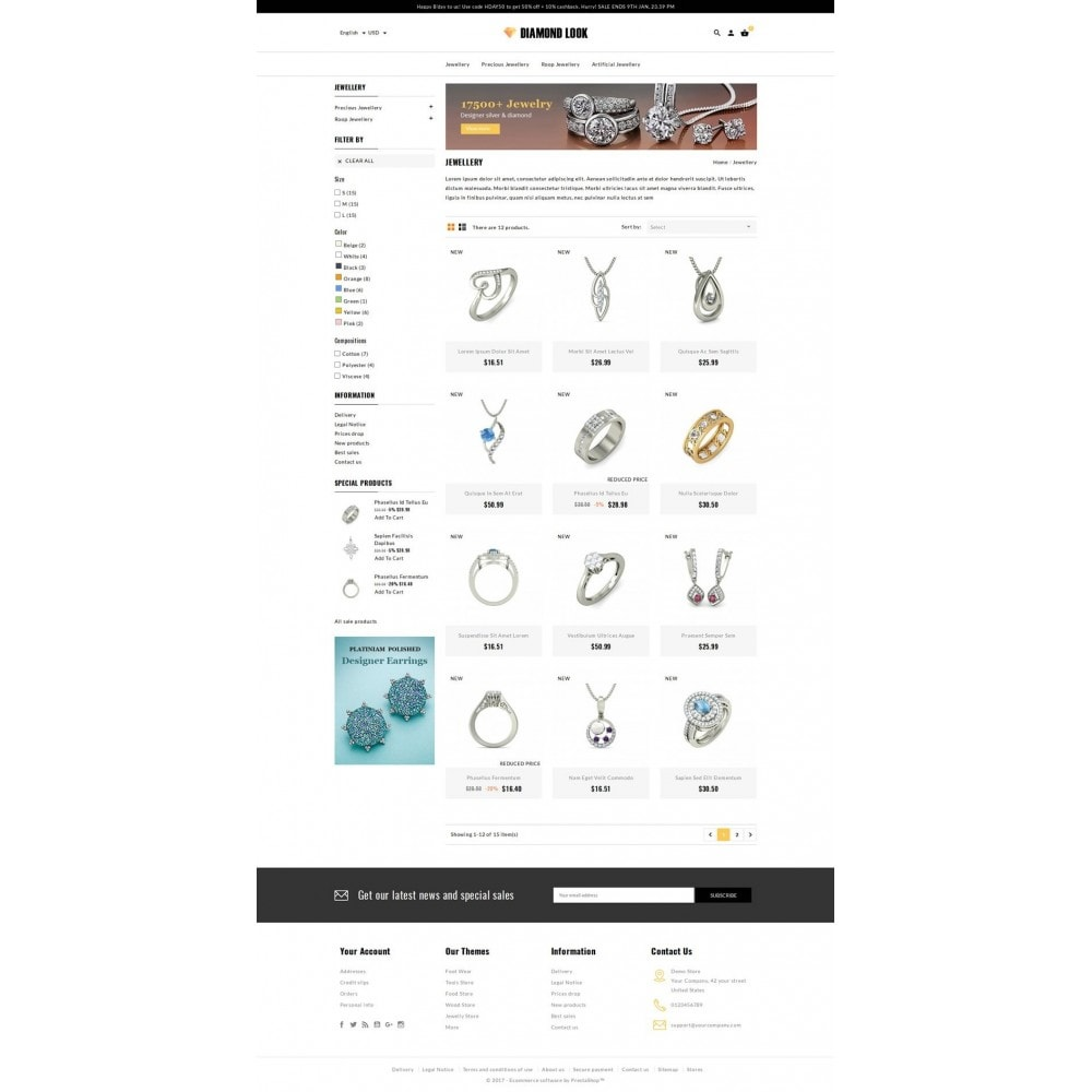theme - Schmuck & Accesoires - Diamond Look Store - 3