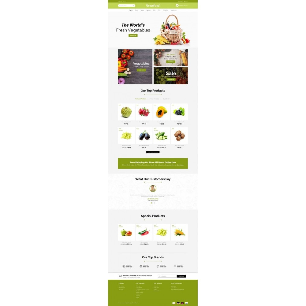 theme - Food & Restaurant - Green Food Store - 2